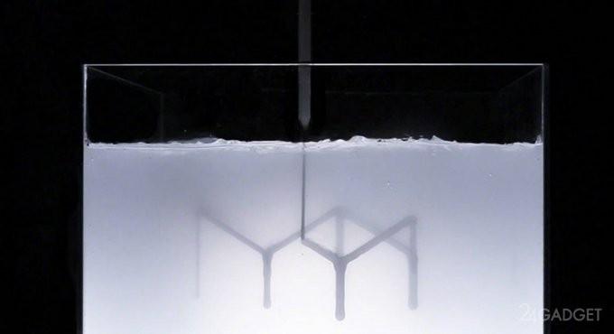 Новые возможности 3D-принтеров: быстрая жидкая печать (6 фото + видео)