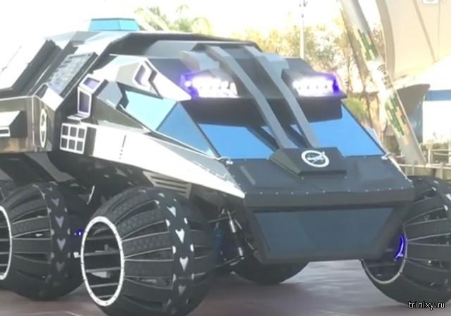 """НАСА представило марсоход, напоминающий внешним видом """"бэтмобиль"""" (4 фото)"""