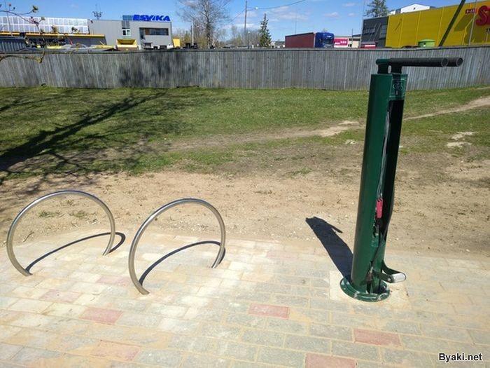 Станция техобслуживания для велосипедов