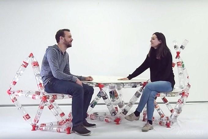 Конструктор из пластиковых бутылок (6 фото + видео)