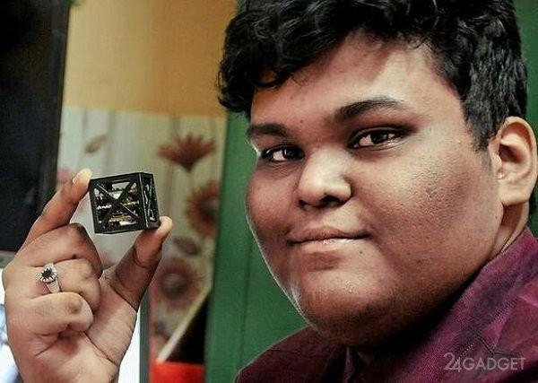 Индийский школьник собрал спутник, не имеющий аналогов в мире (3 фото + видео)
