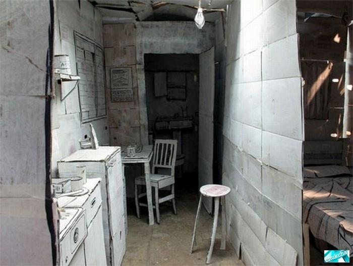 Картонная квартира (7 фото)