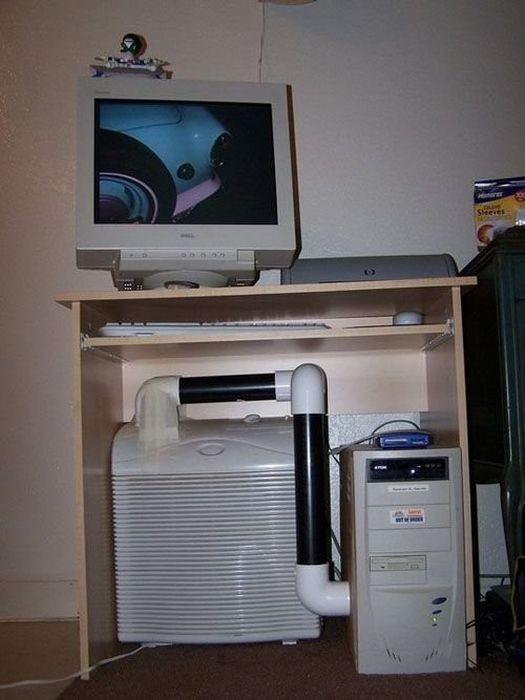 Находчивые пользователи спасают компьютер от перегрева (19 фото)