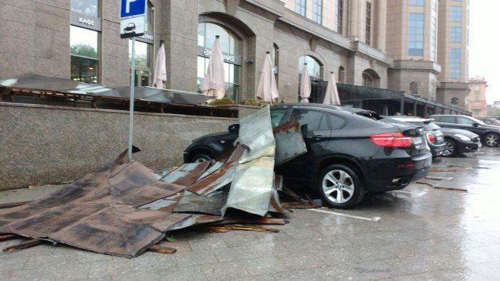 На Москву обрушился ураган (18 фото)