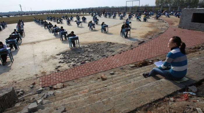 Китайский экзамен (4 фото)