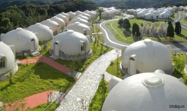 Японский дом из пенопласта (6 фото)