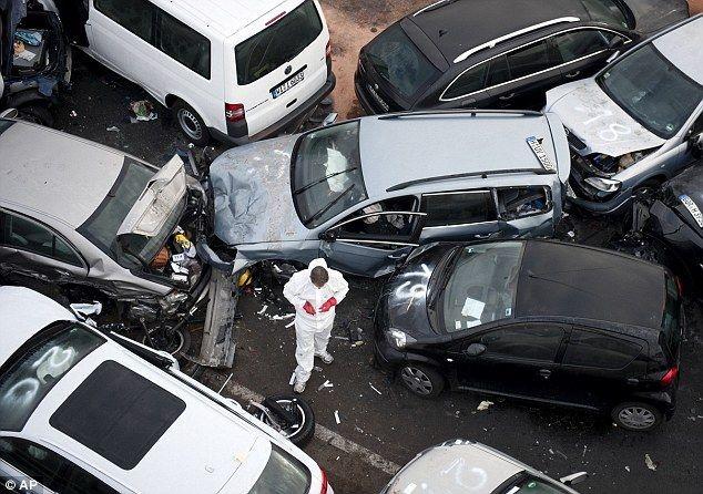 Авария на немецком автобане (3 фото)