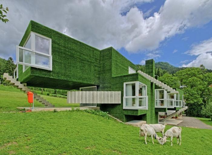 Зеленый дом в Австрии (17 фото)