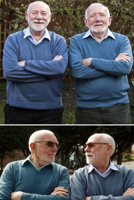 Люди, встретившие своих двойников (17 фото)