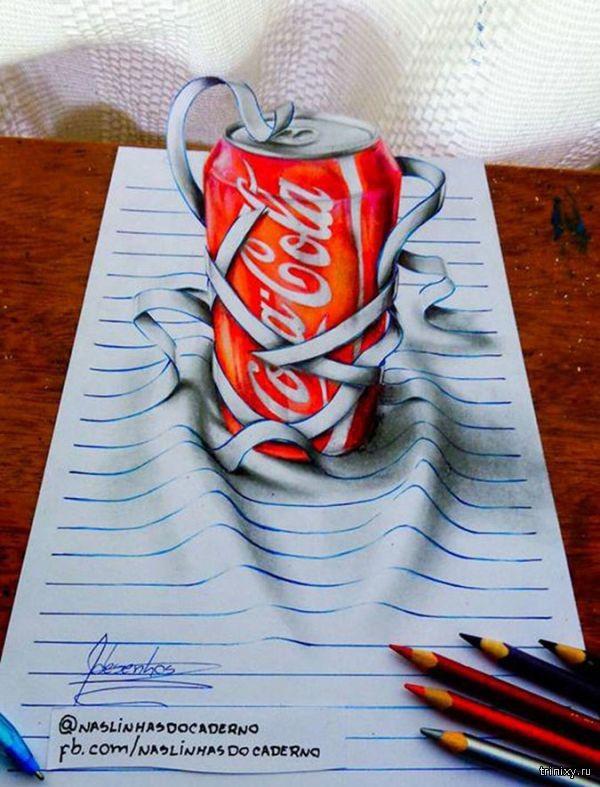 3D-рисунки 17-летнего парня (10 фото)