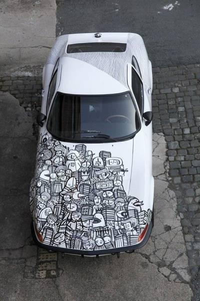 Крутая аэрография на автомобилях (49 фото)