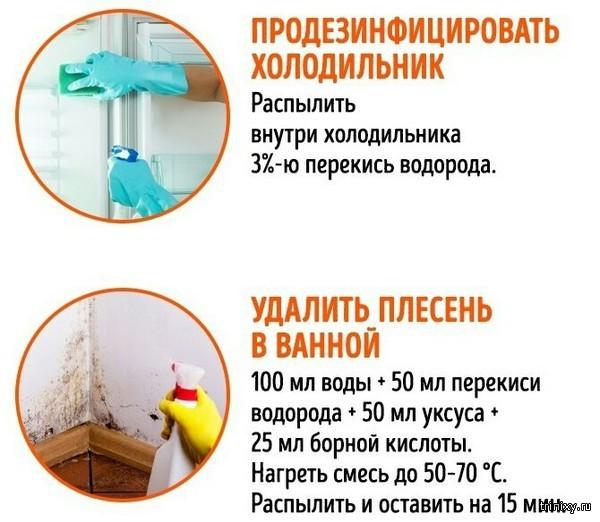 Как использовать перекись водорода в быту (5 фото)