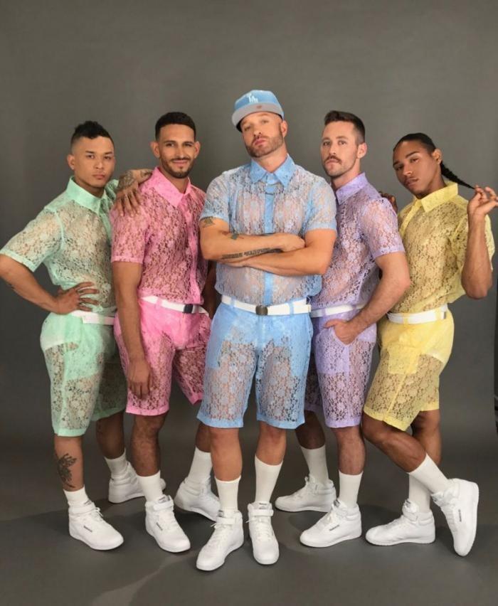 Кружевные шорты - новый писк мужской моды (3 фото)