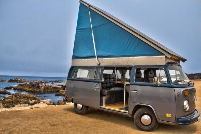 Электрический фургончик Volkswagen 1972 года для путешествий своими руками (46 фото)