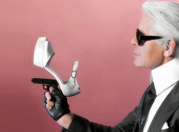 Классные туфли с оружием (20 фото)