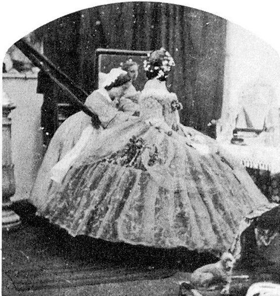 Как одевались в 1860 году (5 фото)
