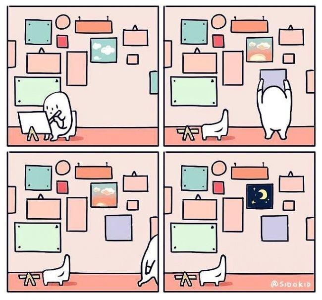Прикольные комиксы с каплей цинизма (13 картинок)