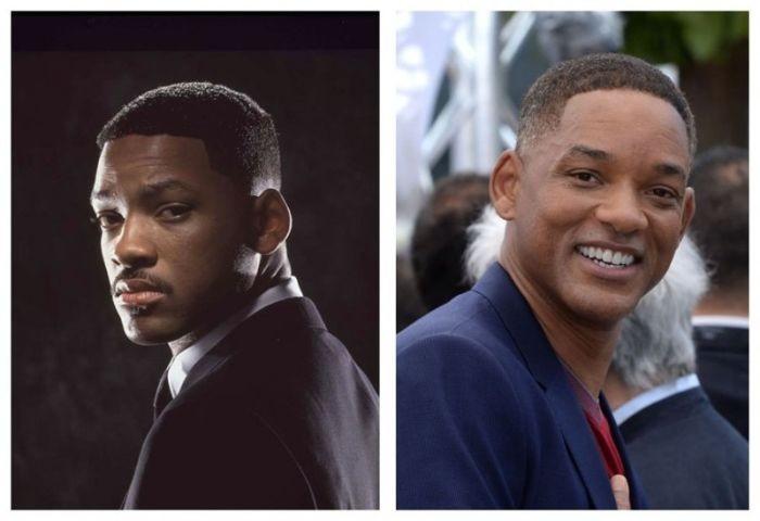 Люди в черном: тогда и сейчас (7 фото)