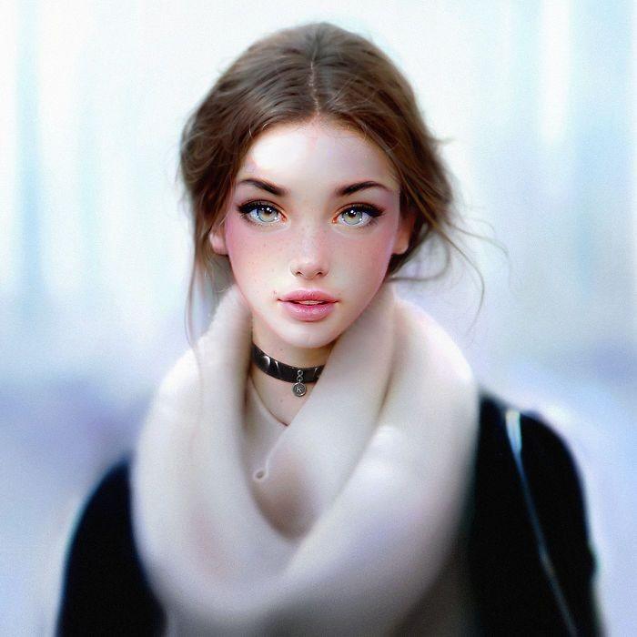Гиперреалистичные портреты Ираклия Надара (13 фото)