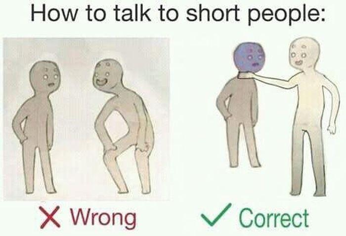 Как общаться с людьми небольшого роста (9 фото)