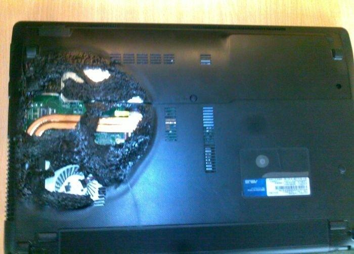 Ноутбук принесли в сервис из-за перегрева (6 фото)