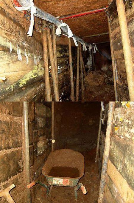 Ограбление через туннель (7 фото)