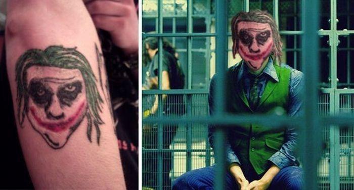 Неудачные татуировки с лицами людей и головами животных (15 фото)