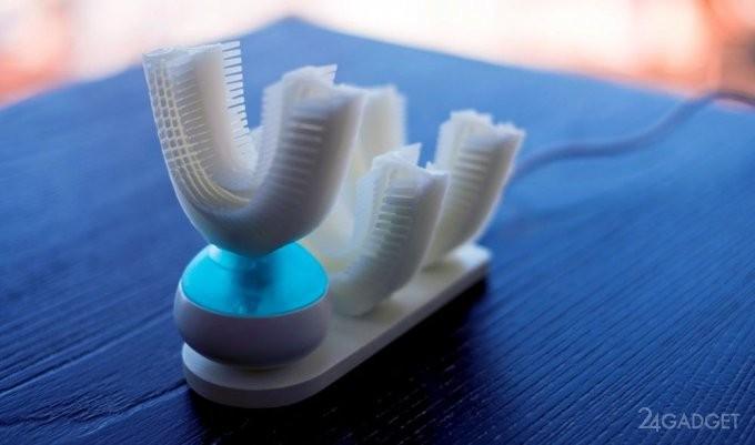 Новая автоматическая зубная щетка чистит зубы за 10 секунд без рук (11 фото + видео)