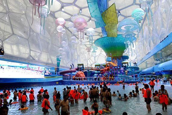 Аквапарк в Пекине (9 фото)