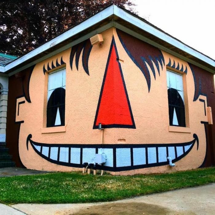 Креативный стрит-арт от Тома Боба (25 фото)
