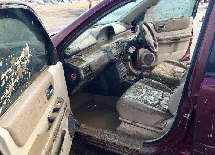 Что будет если оставить автомобиль на берегу моря (7 фото)