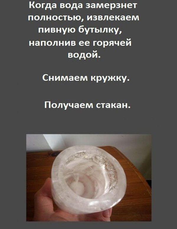 Стакан из льда (6 фото)