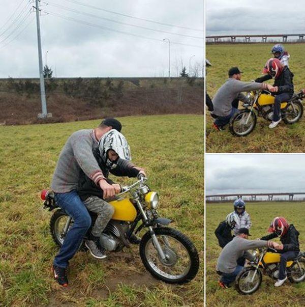 Раскаявшиеся подростки вернули украденный мотоцикл (3 фото)