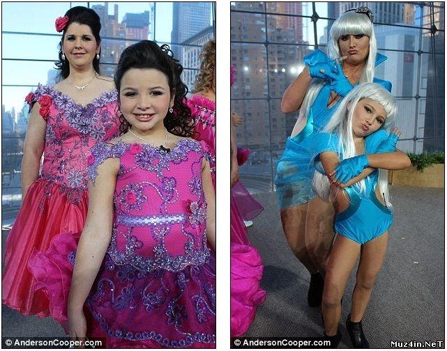 Конкурс красоты для детей в США. Дочери и мамы (8 фото)