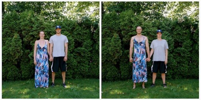 Переодетые пары (25 фото)