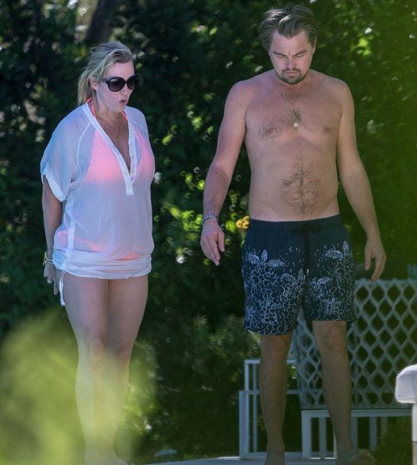 Кейт Уинслет и Леонардо Ди Каприо на отдыхе у бассейна в Сен-Тропе (6 фото)