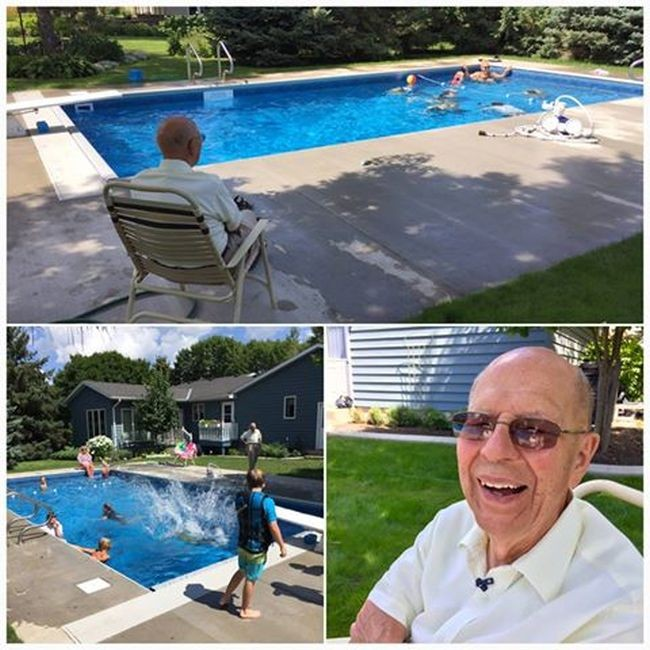 Пожилой мужчина построил бассейн для соседских детей (4 фото)