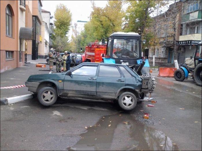 Ошибка тракториста (3 фото)