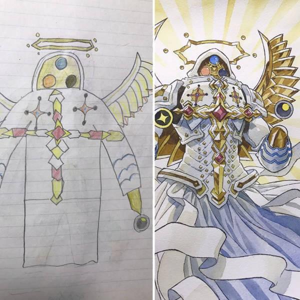 Художник-мультипликатор доработал рисунки сына (22 фото)