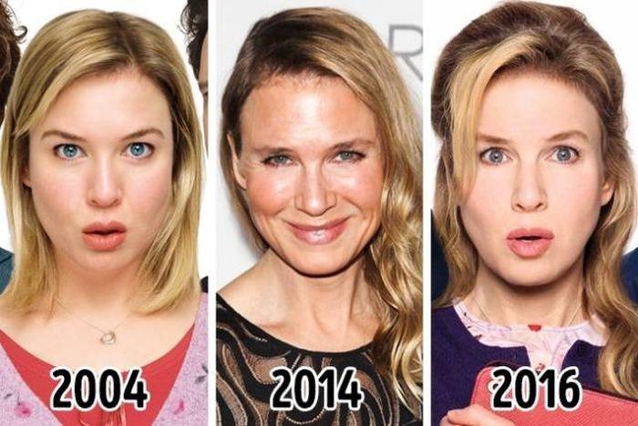Периоды взлетов и падений, отразившиеся на лицах звезд (10 фото)