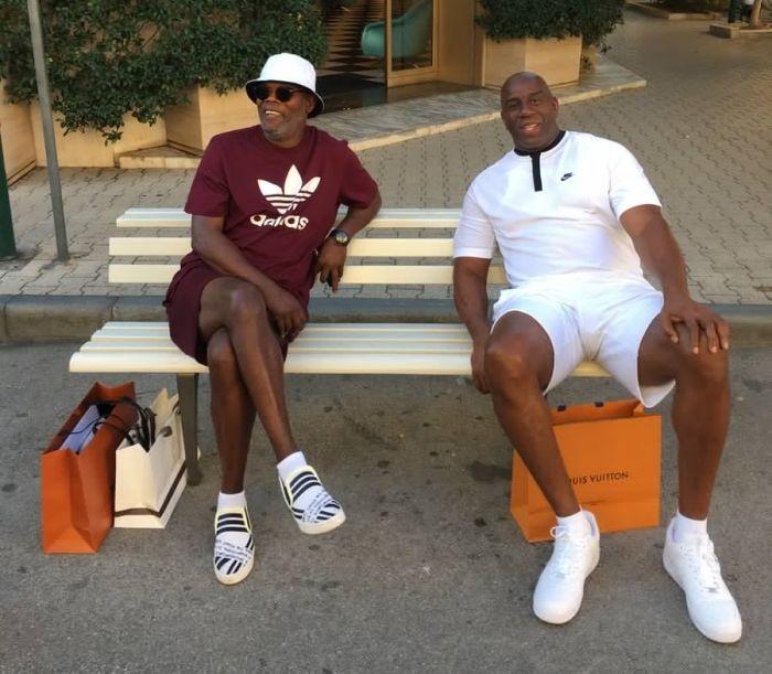 Сэмюэля Джексона и баскетболиста Мэджика Джонсона приняли за мигрантов (3 фото)