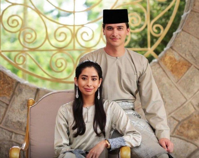 Малазийская принцесса вышла замуж за голландского менеджера (12 фото)