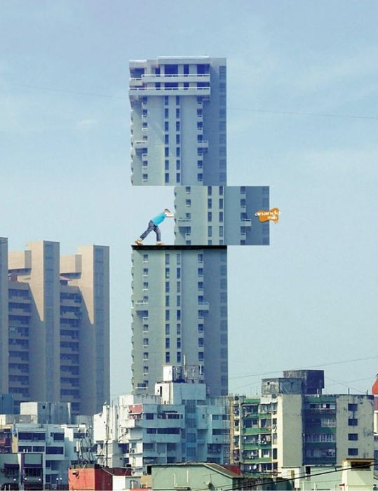 Самая креативная реклама на зданиях (21 фото)