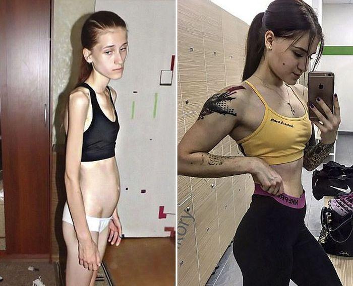 Девушка, поборовшая анорексию и ставшая фитнес-тренером (9 фото)