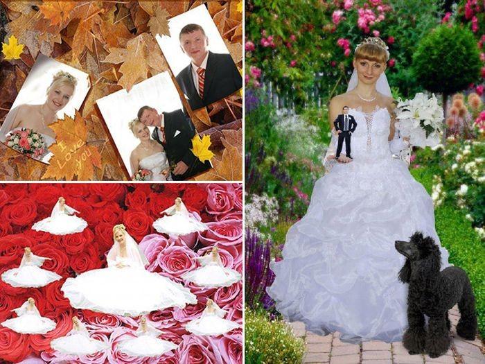 Ужасный свадебный фотошоп (21 фото)