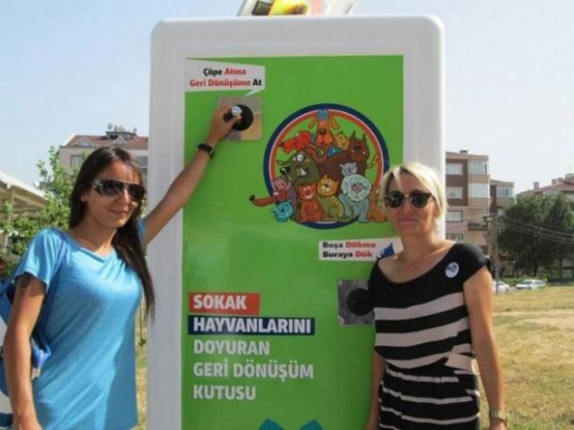 Уличные автоматы для бездомных животных в Турции (8 фото)