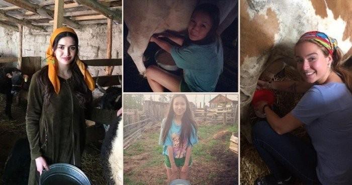 Сельские доярки, у которых есть странички в Instagram