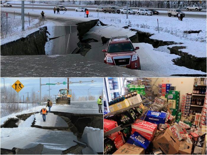 Землетрясение на Аляске (13 фото)