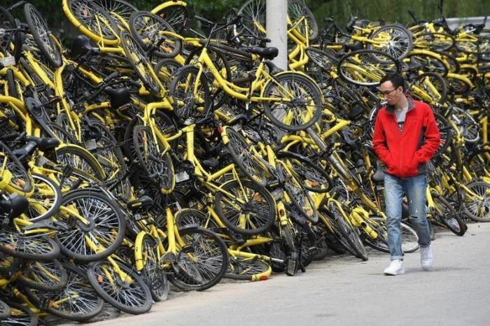 Как велосипеды наводнили Китай (6 фото)