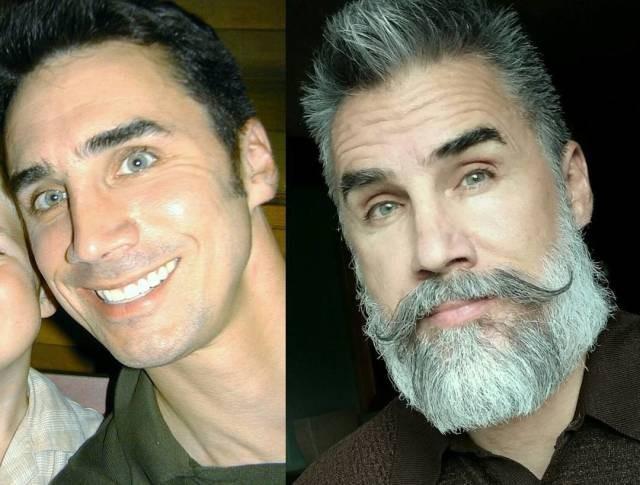 С бородой и без нее (20 фото)
